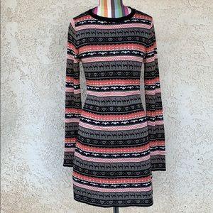 Xhilaration Halloween Print Long Sleeve Dress